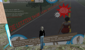 Die letzten Tage von Second Life - eine Aktion von Susanne Berkenheger