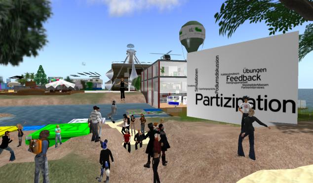 Andre Mersch aka Zaphod Bobak von der Uni Bielefeld präsentiert hilfreiche interaktive Tools für eLearning-Veranstaltungen in Second Life